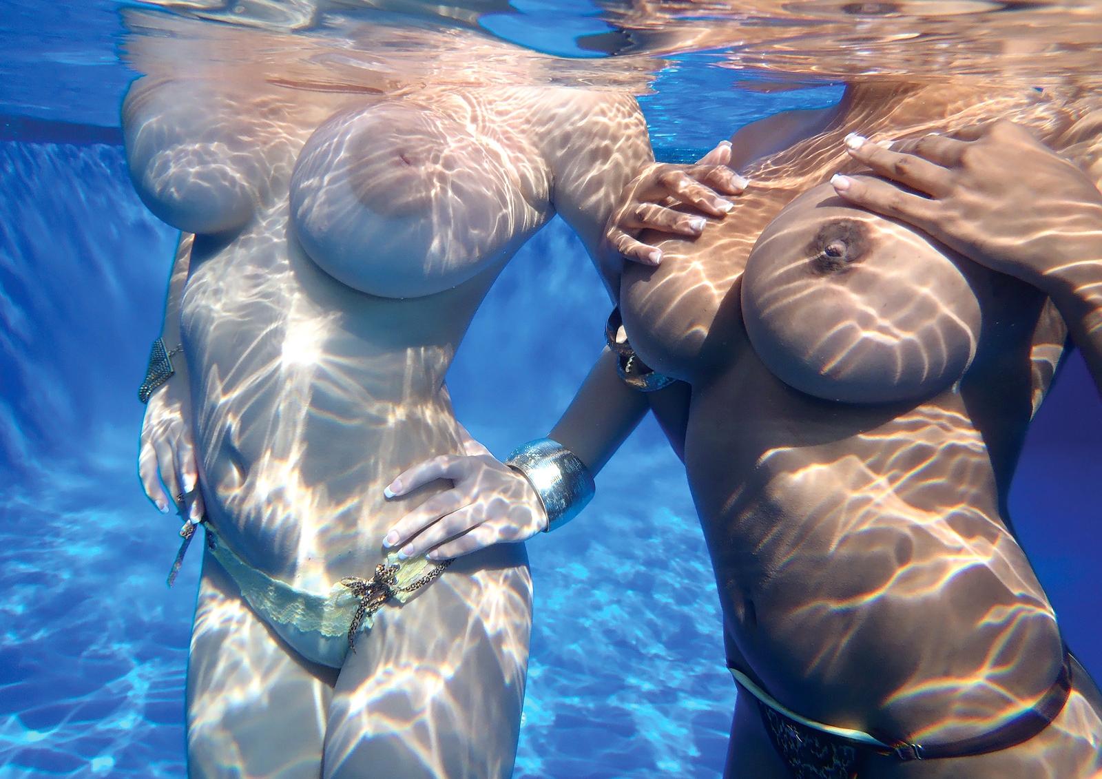 Valory Irene and Chica - Underwater tits