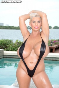 Claudia Marie as Swimsuit Stretcher